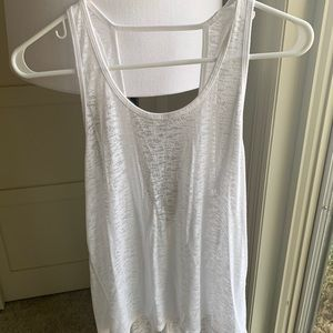 White Burnout with Open Back Tank - Size 4